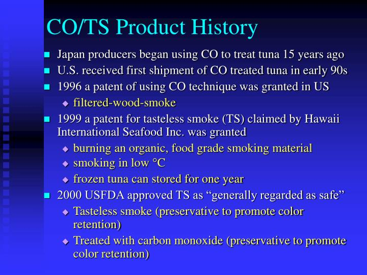 CO/TS Product History