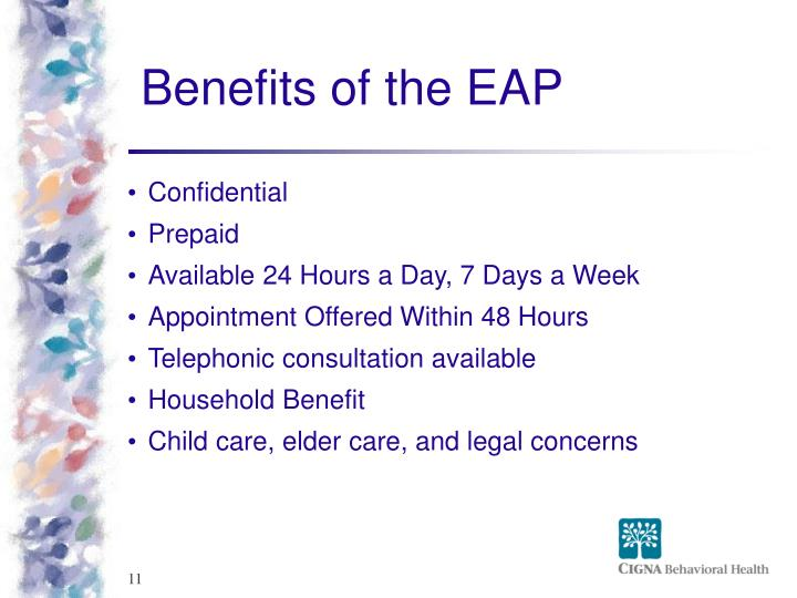 Benefits of the EAP