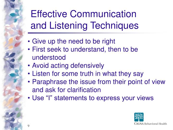 Effective Communication and Listening Techniques