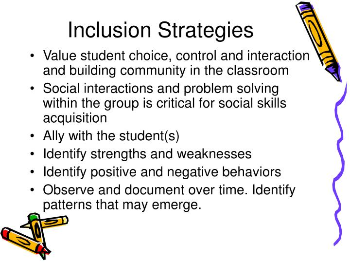Inclusion Strategies