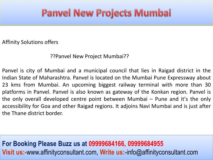 Panvel New Projects Mumbai