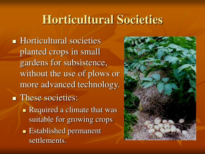 Horticultural Societies
