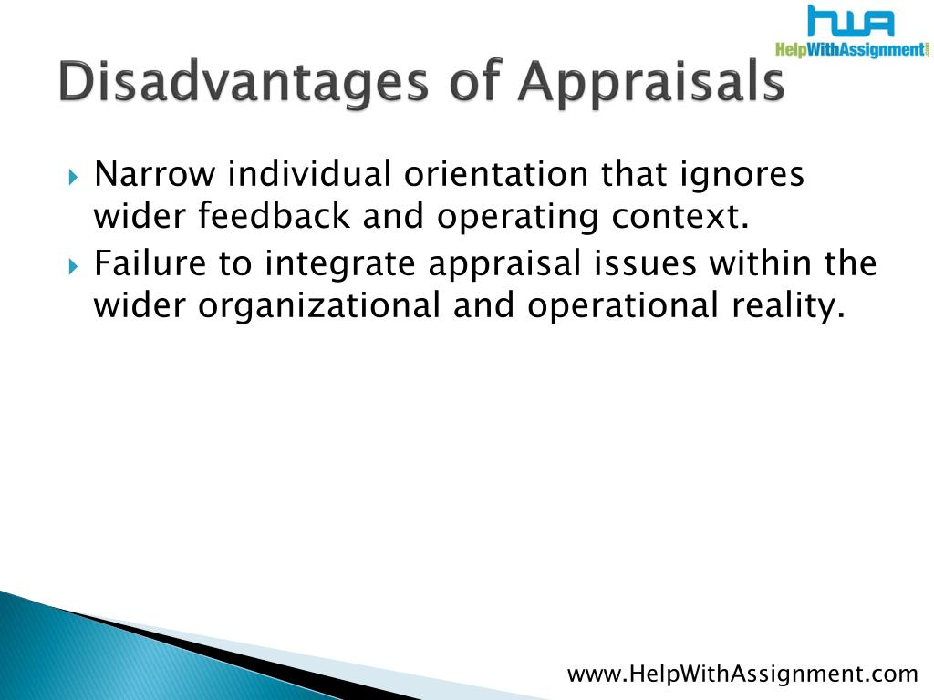 Disadvantages of Appraisals