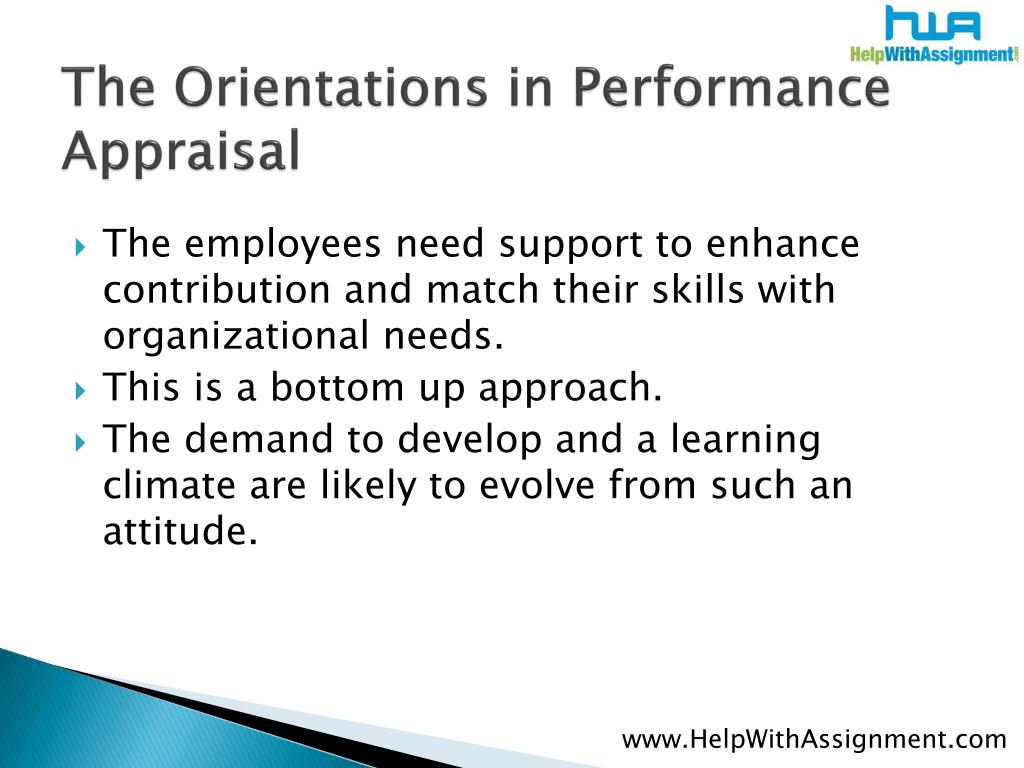 The Orientations in Performance Appraisal