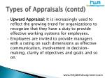 types of appraisals contd15