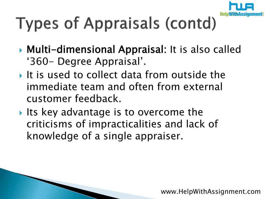 Types of Appraisals (