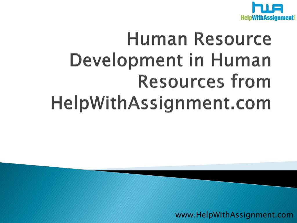 Human Resource Development in Human Resources from