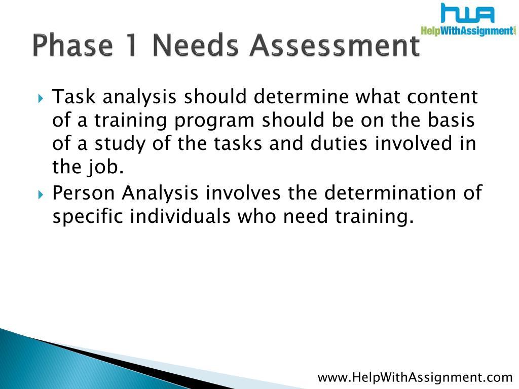 Phase 1 Needs Assessment