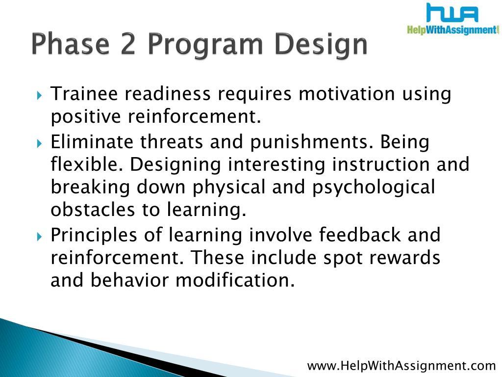 Phase 2 Program Design
