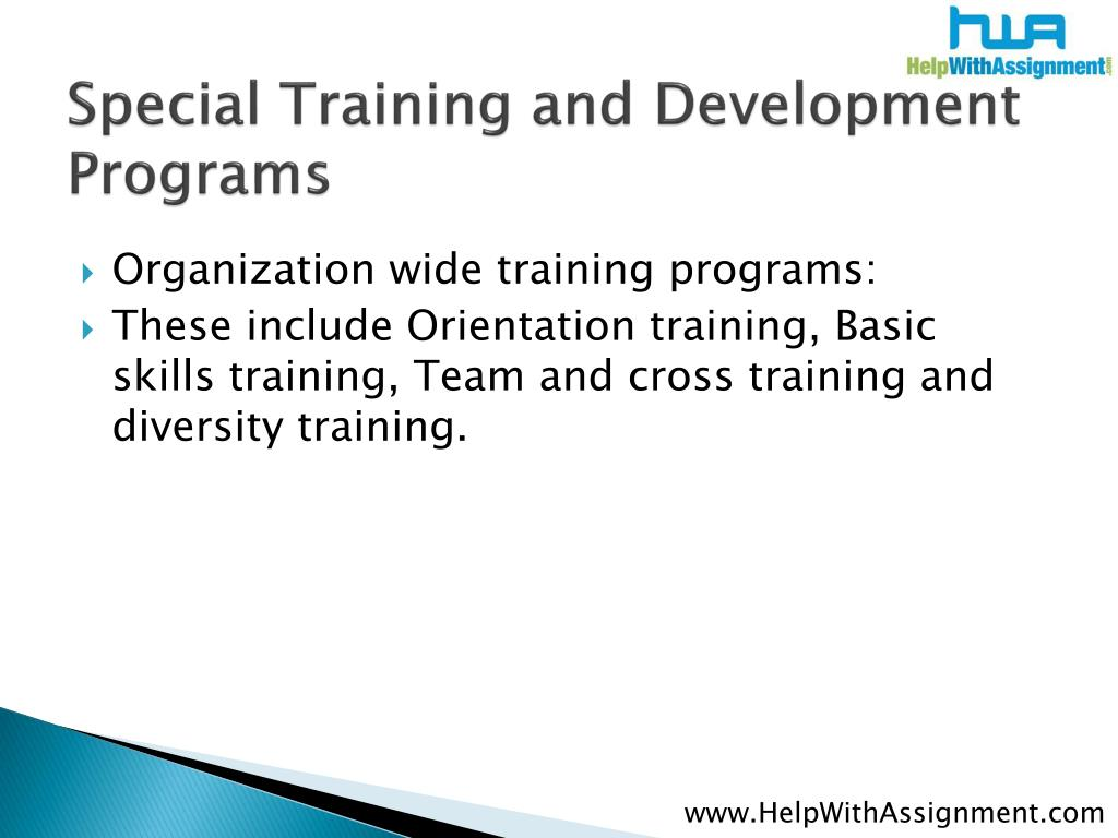 Special Training and Development P