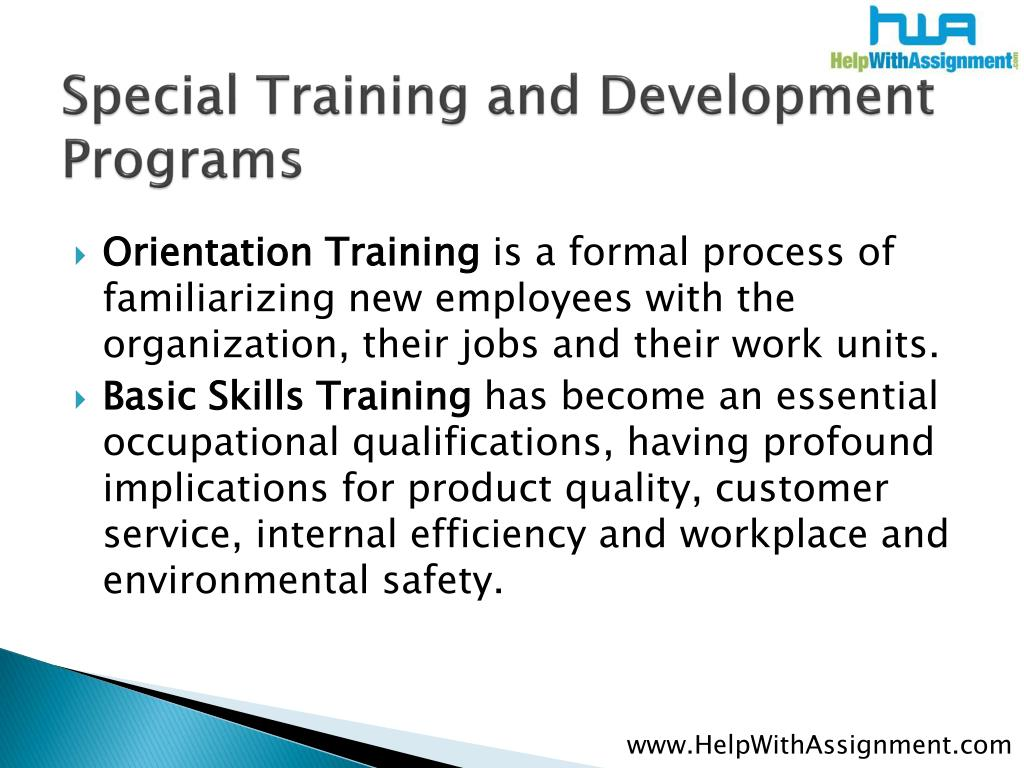 Special Training and Development