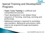 special training and development programs15