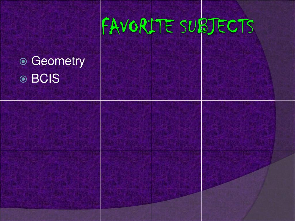 Favorite subjects