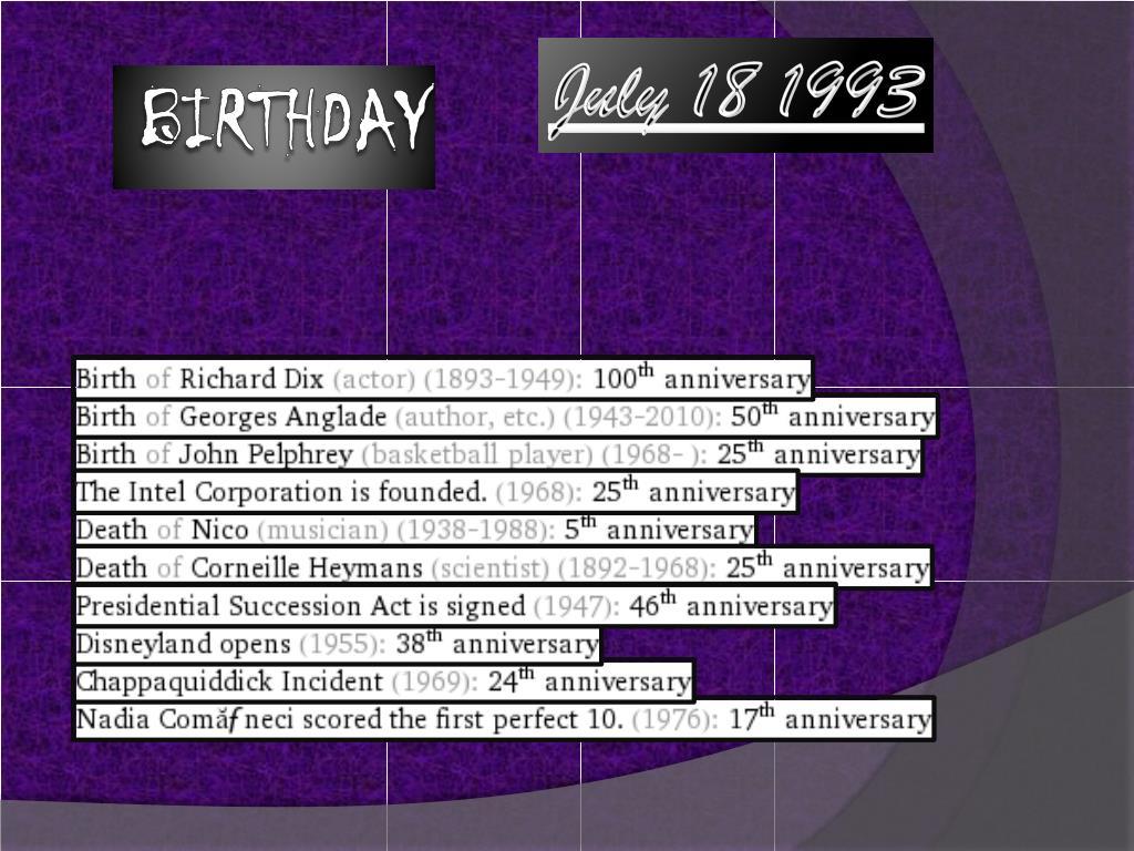 July 18 1993