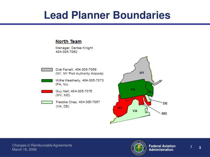 Lead Planner Boundaries