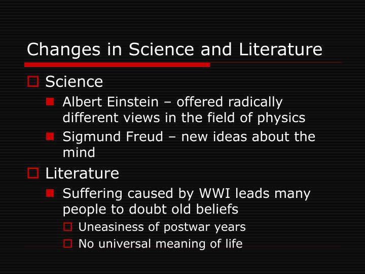 post war uncertainty einstein freud picasso essay Chapter 31 section 1 (pages 897–901) before you read in the last chapter, you read about nationalism  how did einstein and freud challenge old ideas two thinkers developed radical new ideas that  world war i one group developed the idea known as existentialism.