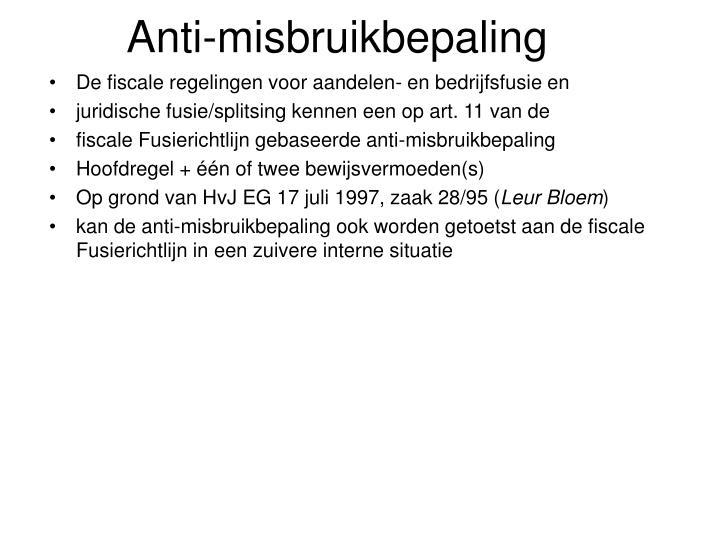 Anti-misbruikbepaling