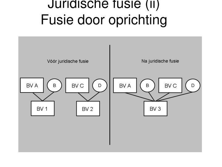 Juridische fusie (ii)