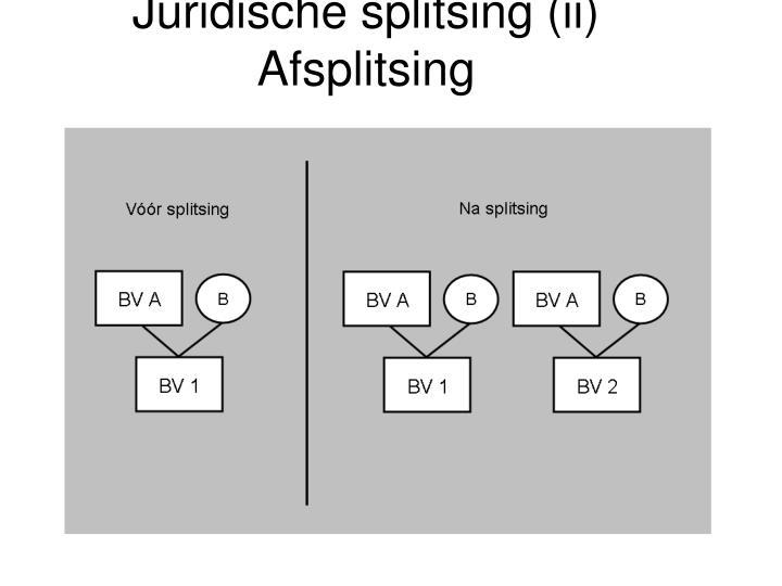 Juridische splitsing (ii)