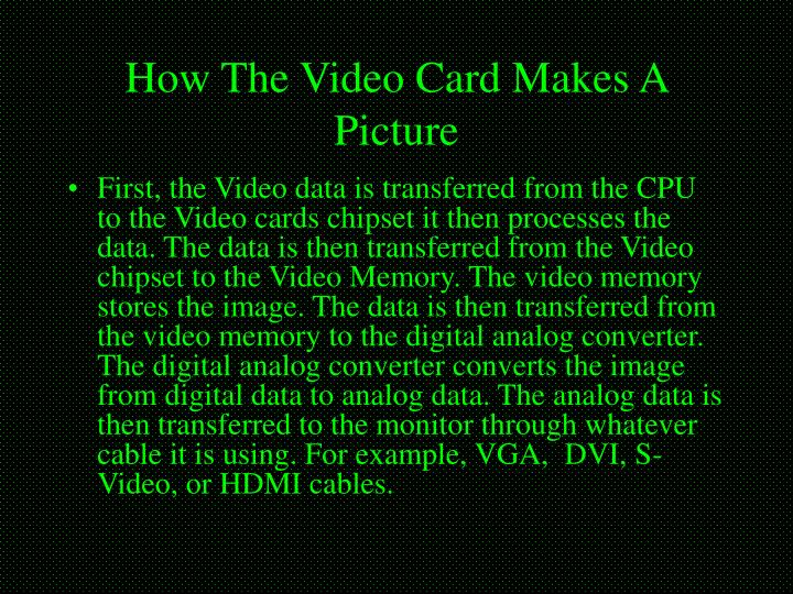 How The Video Card Makes A Picture