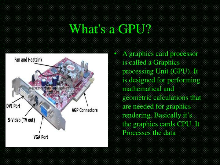 What's a GPU?