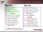 example of a 2 day course