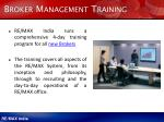 broker management training