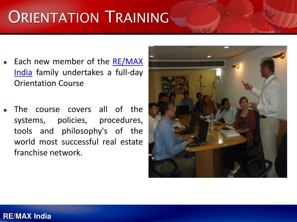 Orientation Training