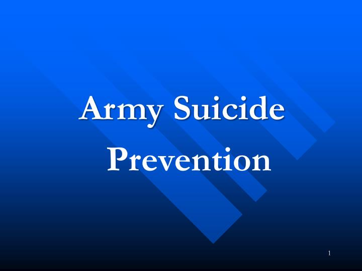 Army Suicide