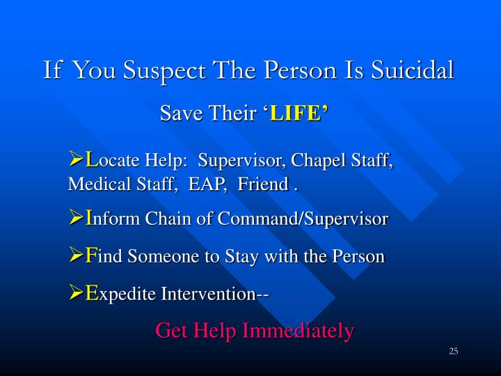 If You Suspect The Person Is Suicidal