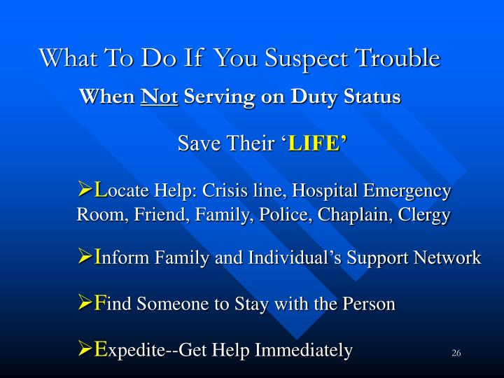 What To Do If You Suspect Trouble