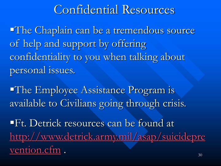 Confidential Resources