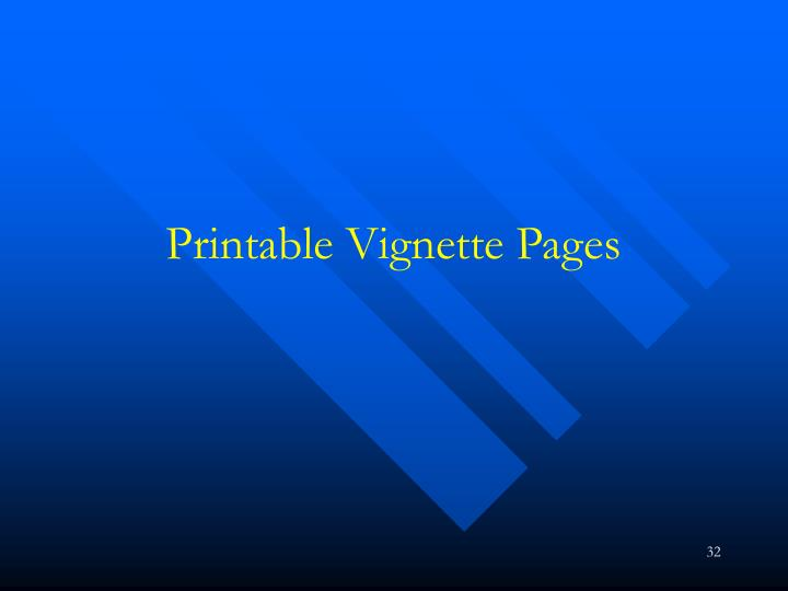 Printable Vignette Pages