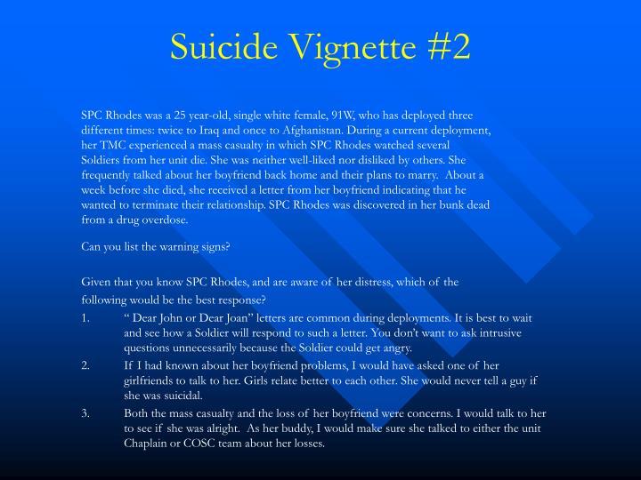Suicide Vignette #2