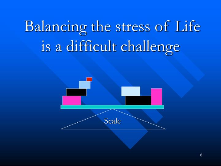 Balancing the stress of Life is a difficult challenge