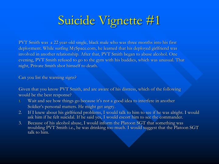 Suicide Vignette #1