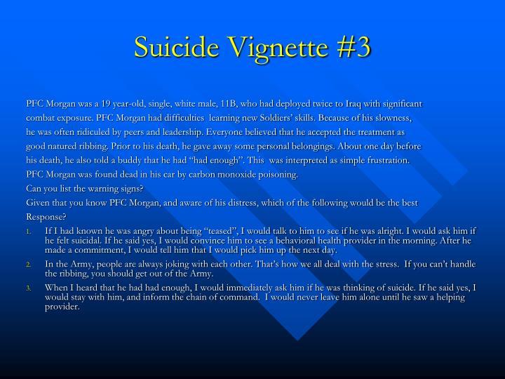 Suicide Vignette #3