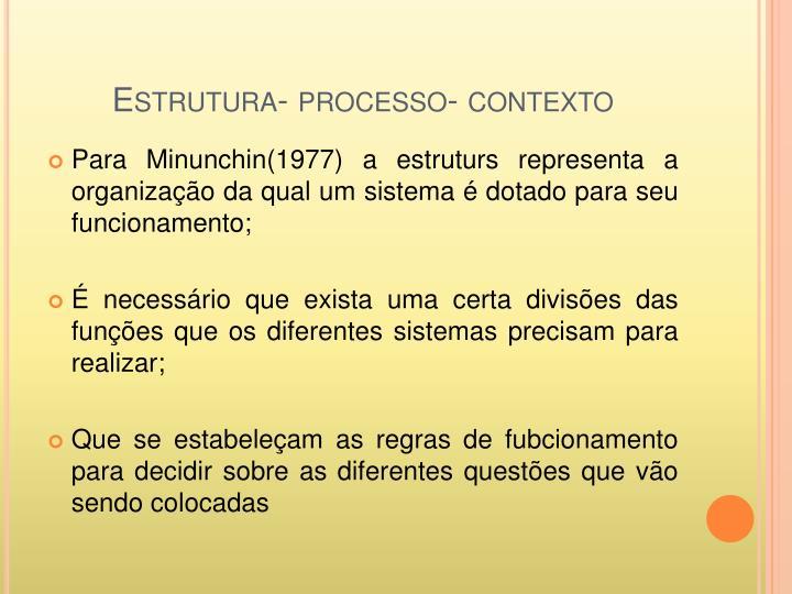 Estrutura- processo- contexto