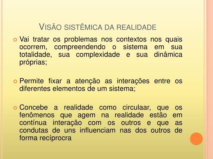 Visão sistêmica da realidade