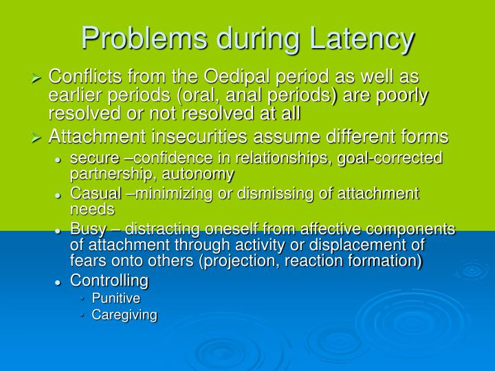 Problems during Latency