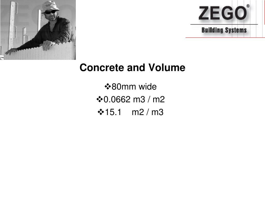 Concrete and Volume