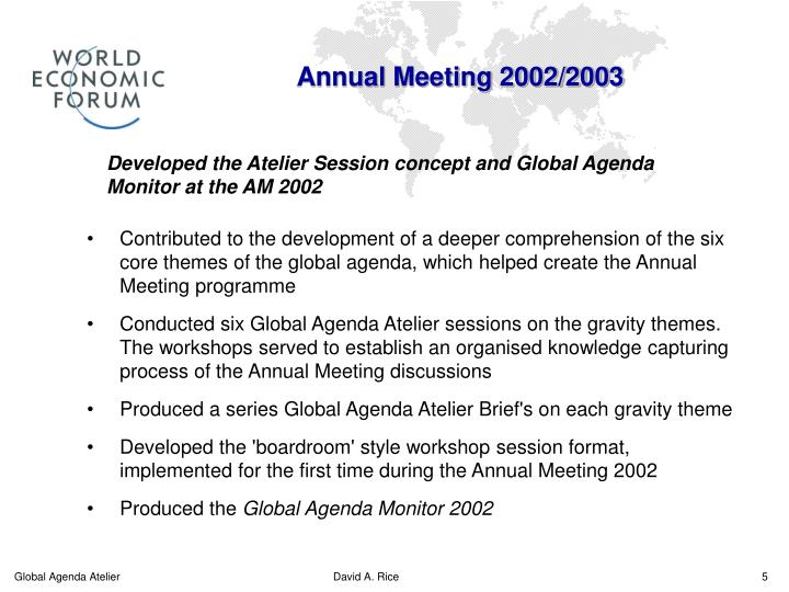 Annual Meeting 2002/2003