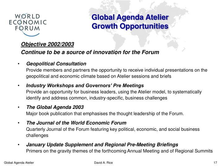 Global Agenda Atelier