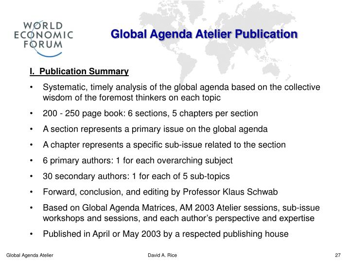 Global Agenda Atelier Publication
