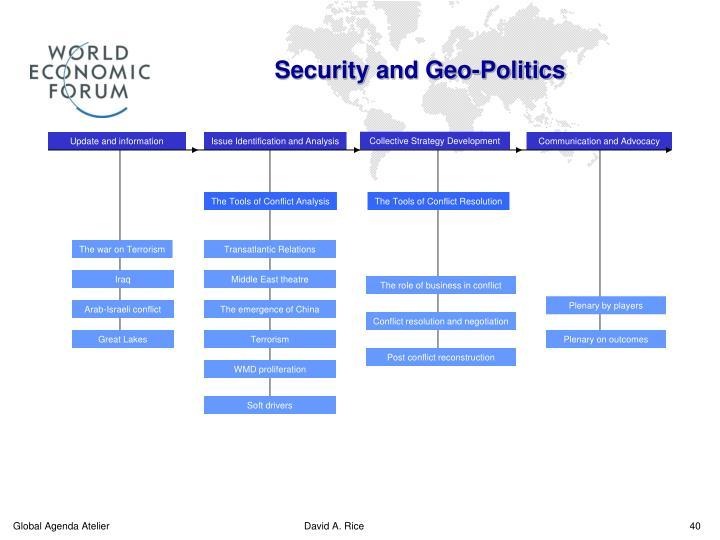 Security and Geo-Politics