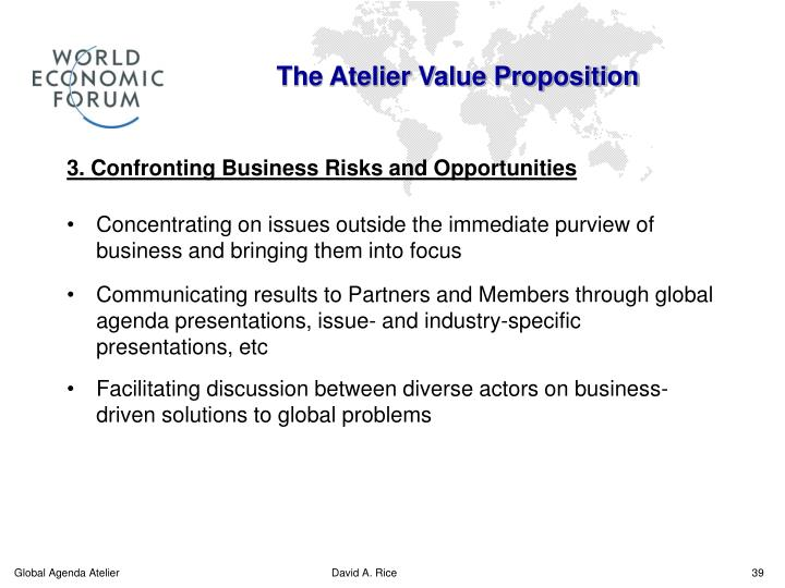 The Atelier Value Proposition