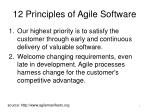 12 principles of agile software
