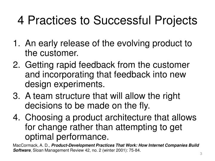 4 Practices to Successful Projects
