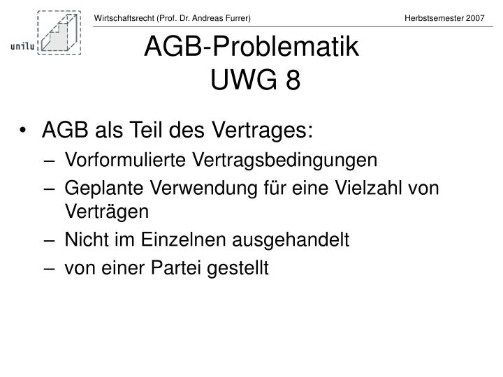 AGB-Problematik