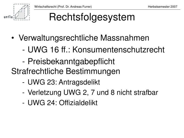 Rechtsfolgesystem